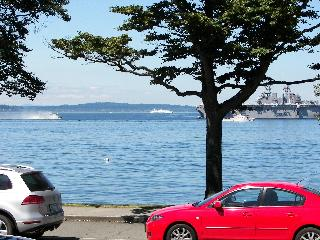 Alki Beach- Majestic views sound, mnts & shipping, Seattle