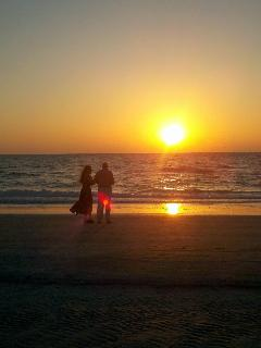 Romantic Sunset together. Our sunsets are stunning!
