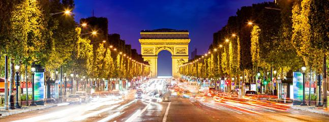 Champs-elysees at night - Les champs-elysees au crepuscule