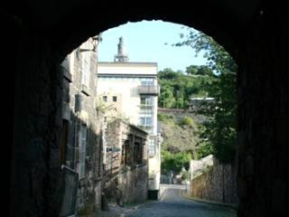 view down Old Tolbooth Wynd from the Royal Mile (Canongate)
