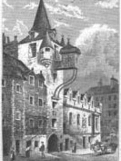 Historic view of the Old Tolbooth
