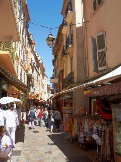 Rue Meynardier is a delightful pedestrian shopping street.