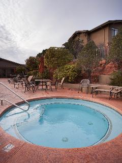 The pool and hot tub are terrific places to unwind