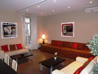 Spacious living area with modern furnishings