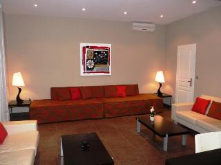 Another look at the sofas in the living area