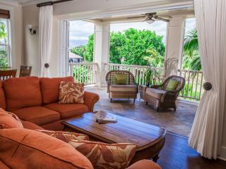 BEST!  LUXURY VILLA , Central A/C, 3 private suites, Pool/spa, stroll to Beaches, Poipu