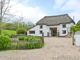 GROVES FISHLEIGH, detached, thatched barn convsersion, woodburner, walking dista