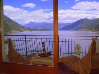 Stunning property with 180 deg  views of Lake Como, Argegno