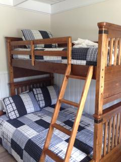 Bunk bed with twin over full for plenty of sleeping options