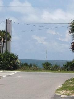 Gulf view from street