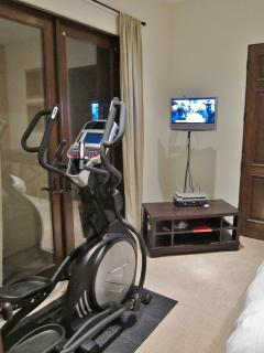 bedroom 4 with elliptical