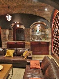 wine vaults, bar, living area