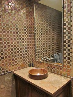 Moroccan tiled bath