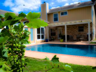 PRIVATE POOL & CABANA! Pool table/grill/spacious yd! Conv location! SLEEPS 17!