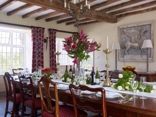 The Hyde's dining room in the medieval hall that seats 20