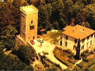 Torrepietro: Villa + Medieval Tower near Florence, Vaglia