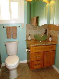 your wash basin and toilet