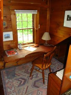 the separate writers nook has built in desk