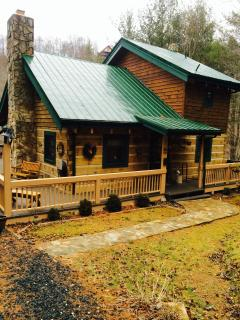 Kokomo on the River-- log home on the North Fork of the River