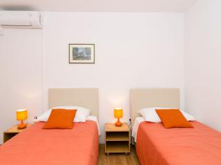 Orange room, garden terrace and shared bathroom