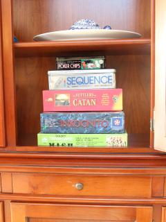 The house also has a good supply of board games, guidebooks, novels and childrens' toys