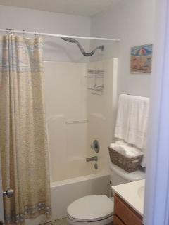 Full Bathroom with NEW Rain shower head & NEW towels