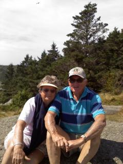 Mac and Nan on Monhegan Island