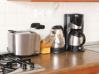 Toaster, kettle and coffe machine for your comfort