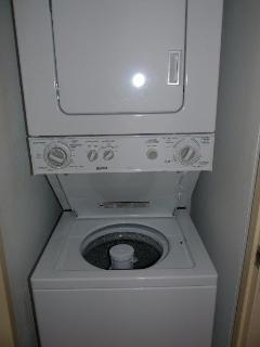 Enjoy the convenience of a washer and dryer in the Unit