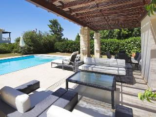 Fantastic outdoor space at villa Lara with shaded seating areas for when the sun gets too much