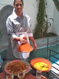 Rachida, our excellent housekeeper and cook will look after you