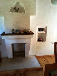 Traditional chimney in kitchen