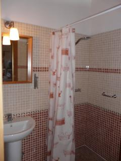 Guest en-suite, adapted for wheelchair