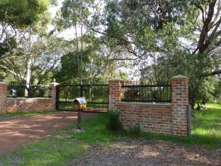 The gate entrance into the property