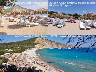 At 1500m off the villa there is Cala Jondal with great amenities, 5 superb Beach-Clubs + Blue Marlin