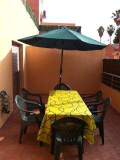 terraza exterior, para agradables desayunos y cenas este verano
