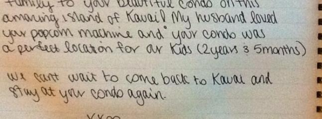 D101 Guest Comments from Guest Book