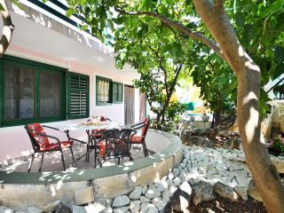 Green garden in a peaceful surrounding, sunny terace, grill, parking, 300m beach