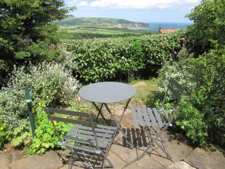 View from the garden towards Robin Hoods Bay