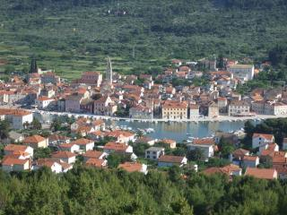 Beautiful Stari Grad from hill behind the house. Villa Mjesto is on this side, by the harbour.