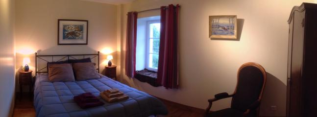 Upstairs bedroom, view of backfield and orchard