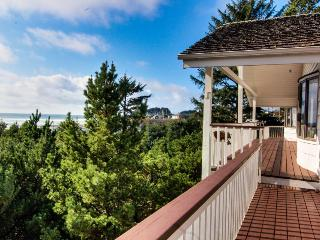 Huge dog-friendly ocean & riverfront home w/ hot tub, views, close beach access!
