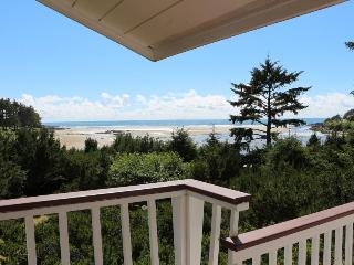 Huge waterfront home w/ hot tub, & views - close beach access & dogs OK!