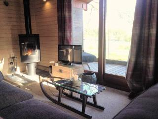 Lounge with Log Burner overlooking the Dyfi Valley