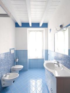 SHOWER BATHROOM WITH WASHING MACHINE