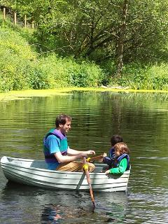 Guests enjoying boating in Jemima our rowing boat