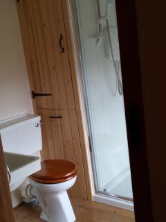 The bathroom with double width shower