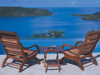 Situated on a breezy hilltop, this villa has long- distance ocean views from every vantage point. VG ANN, Virgin Gorda