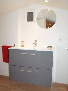 Coin toilette chambre mezzanine