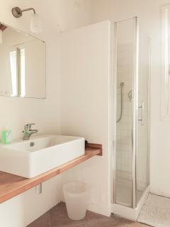There are 4 bathrooms in the villa - all with power shower, wash basin, bidet and toilet.